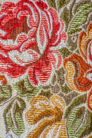 꽃 패턴, 세로, 근접 촬영 복고풍 섬유 스톡 콘텐츠