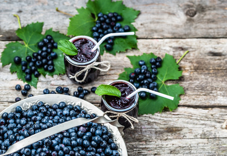 Fresh blueberry drink, summer smoothie with vitamin mixed from bilberry Stock Photo