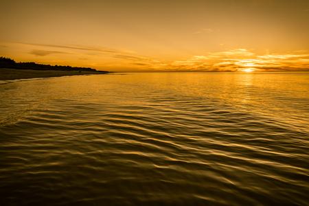 Beautiful sunset over sea, background, summer, Poland Stock fotó - 76597576