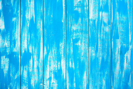 Blue wooden texture, wood background, boards stained in white-blue color Banco de Imagens
