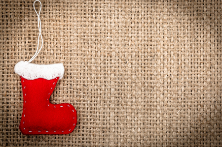 Red santa claus boot, christmas backgrounds