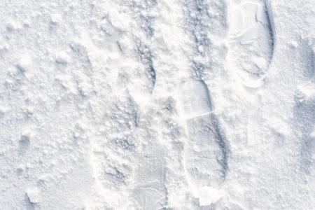 발자국 눈, 겨울 질감 디자인 배경 스톡 콘텐츠