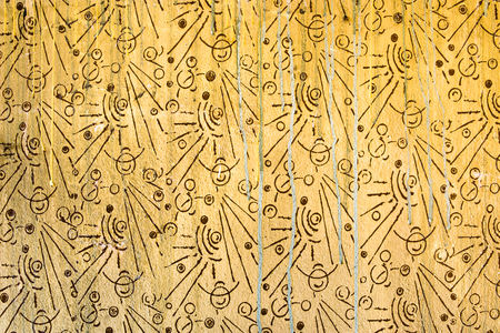 幾何学的なパターン、レトロな背景、80、70 年代スタイルの古い壁のテクスチャ 写真素材