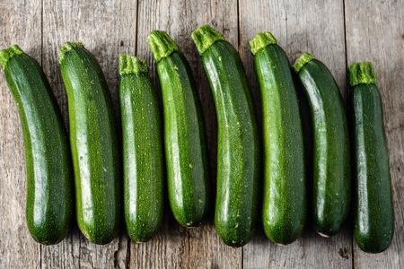 Fresh zucchini, green vegetables, farm fresh bio produce from farmer market Foto de archivo