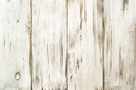 White wood background texture from wooden planks. Standard-Bild