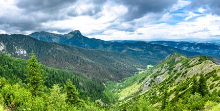 高い山々、パノラマの景色