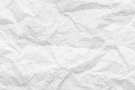 Cresed paper, white background texture Archivio Fotografico