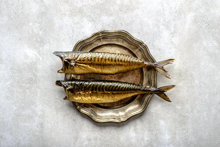 Mackerel, smoked fish with omega 3 fat, bar food on platter