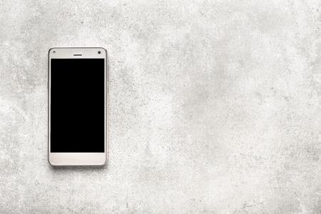 Modern smartphone with black screen, mockup