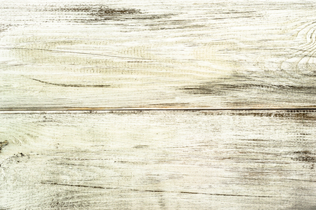 White wood background texture from wooden planks. Stock Photo