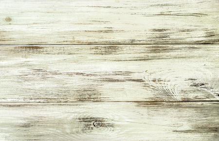 White wood background texture from wooden planks. Banco de Imagens