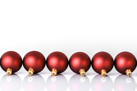 Christmas ornament, red bauble isolated on white background
