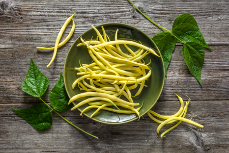 Yellow bean, fresh vegetables from market, freshly harvested beans on plate, vegetarian food concept Reklamní fotografie