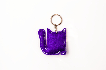 Key chain isolated on white background
