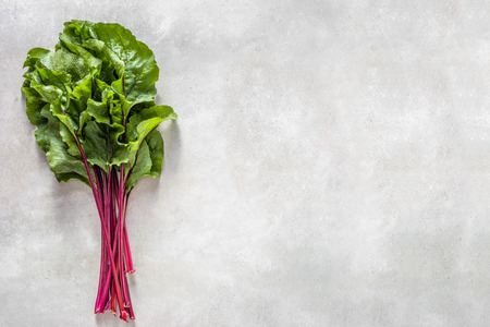 Green leaves of beet. Fresh vegetables, healthy diet, vegetarian food concept. Stock Photo - 110425700
