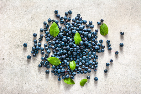 Fresh bilberry or freshly harvested blueberry on white background 스톡 콘텐츠