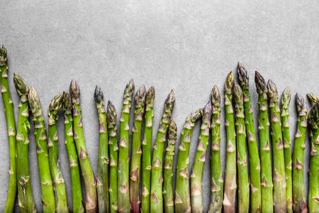 Farm fresh produce - green asparagus, top view
