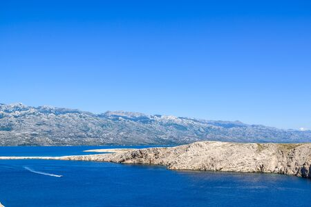 Blue lagoon of Adriatic Sea - Kvarner bay near pag island, Dalmatia, Croatia