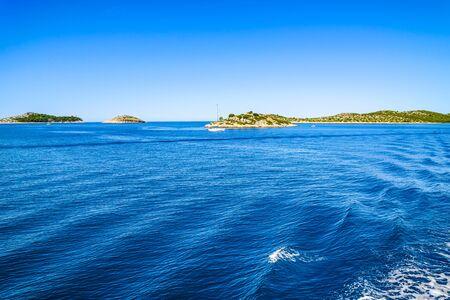 Mediterranean Sea and islands. Croatia, vacation travel concept.