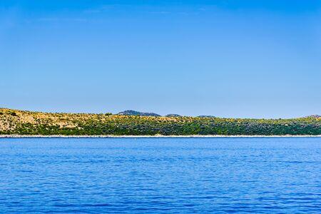 Adriatic coast of island. Mediterranean Sea, Croatia.