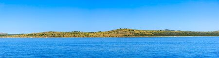 Blue sky and Sea in Croatia, panorama of sea and coast. Vacation and travel concept. Stock fotó