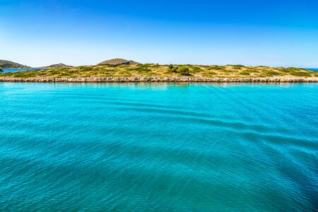 Mediterranean lagoon with turquoise water. Sea and coast of Croatia, vacation travel concept. Stock fotó - 145645545