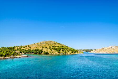 Croatian islands in the sea, croatia, landscape. Vacation and travel concept.