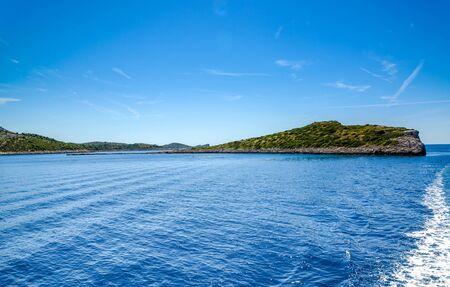 Croatian rocky islands. Adriatic Sea, Croatia. Vacation travel concept.