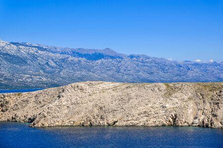 Adriatic coast of island, Mediterranean Sea Bay, Croatia, landscape Stock fotó