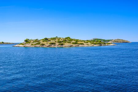 Mediterranean landscape with sea and islands. Croatia, vacation travel concept. Stock fotó - 145645613