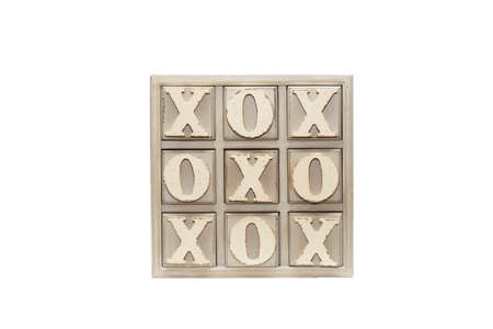 Tic tac toe intelligence game Wood and painted