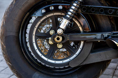 Retro motorcycle wheels and parts