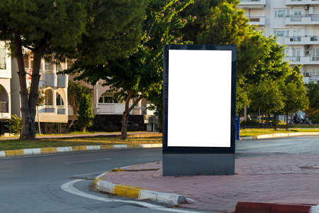 Billboards on the road, empty billboards used in the city Stok Fotoğraf