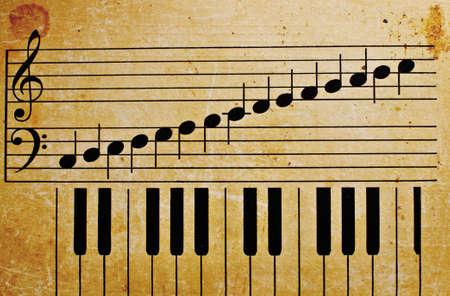 vieille touches de piano Vintage Music de texture de fond
