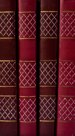 revision book: old vintage antique books pile texture  Stock Photo