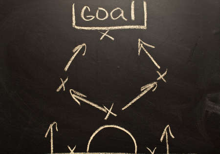 formations: Soccer formation tactics on a blackboard