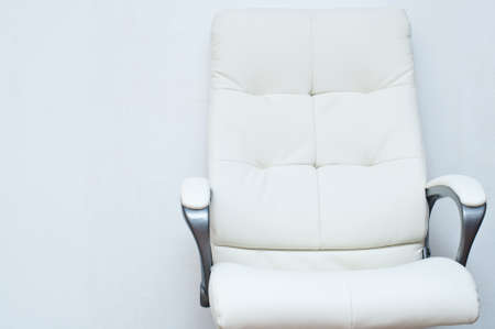 reclining chair: white swivel task chair on the white background
