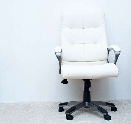 swivel chairs: white swivel task chair on the white background