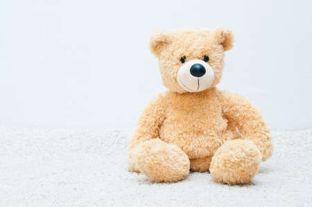 soft toy: soft toy - bear on the white background Stock Photo