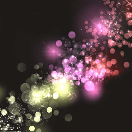 lensflare: defocused colorful lights dark grey background with bright dots