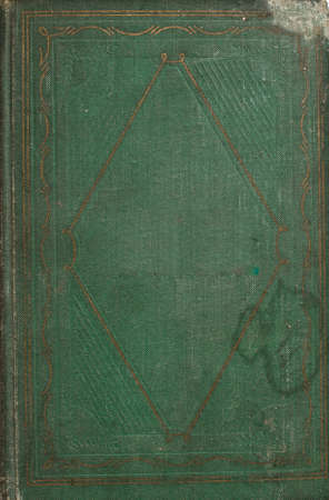 green book: vintage old dark green book cover texture Stock Photo