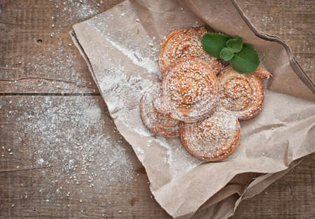 sesame seeds: Homemade bakery, puff cookies with sesame seeds