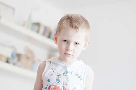pranks: little 4 years old angry boy fools around