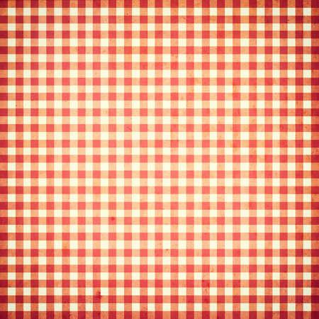 赤と白のチェックのシームレスなパターン グランジ ビンテージ背景