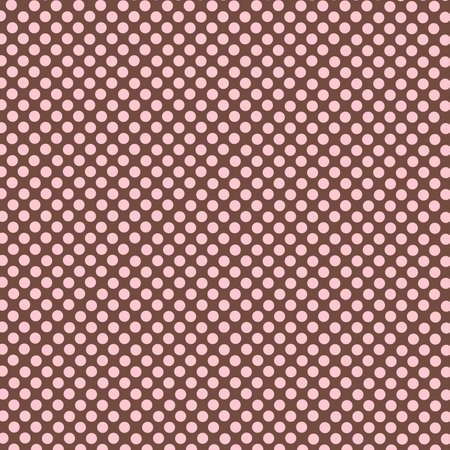 pink brown: brown seamless background and pink polka dot