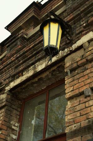 haunting: old lantern of the abandoned haunting house Stock Photo