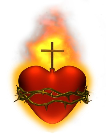 sacre coeur: Restituer du Sacr� coeur de J�sus - 3D.