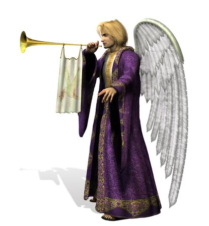 Angel Gabriel - side view - 3D render