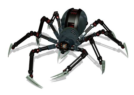 3d render of a robot spider.