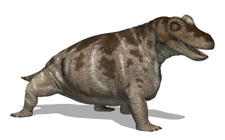 The Keratocephalus dinosaur lived during the Middle Permian Period - 3D render. Stock fotó